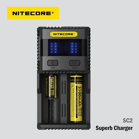 NITECORE SC2 智能快速充電器 AA AAA 18650 16340 26650
