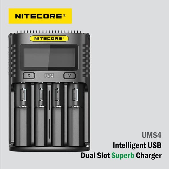 Nitecore UMS4 智能USB 電池快速充電器 (4槽)