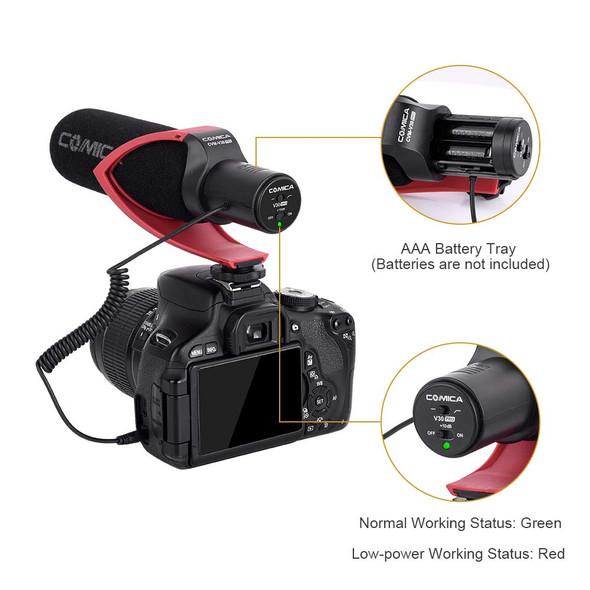 Comica CVM-V30 PRO Directional Condenser Shotgun Video  超心型指向電容式收音咪