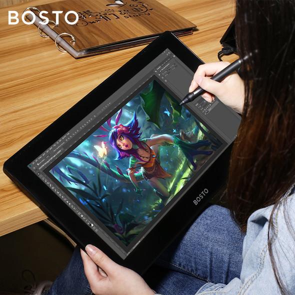 Bosto 16HDT Drawing Tablet Monitor 專業級顯示器繪圖板(多觸點手觸控版本)