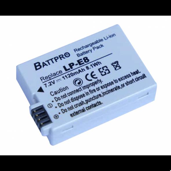 Battpro LP-E8 Battery for Canon EOS 700D 650D 600D 550D