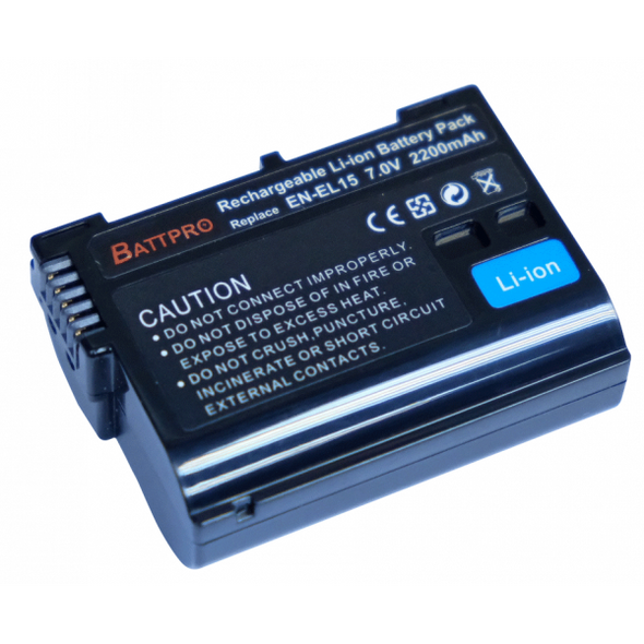 Battpro EN-EL15 Battery for Nikon Z6 Z7 D850 D810 D800 D750 D7500