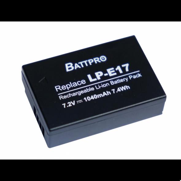 Battpro LP-E17 Canon EOS M5 M6 M3 RP 77D 800D 760D 相機代用電池連充電器