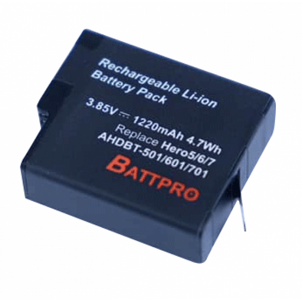 Battpro Gopro Hero 5/6/7/8 Battery 代用電池
