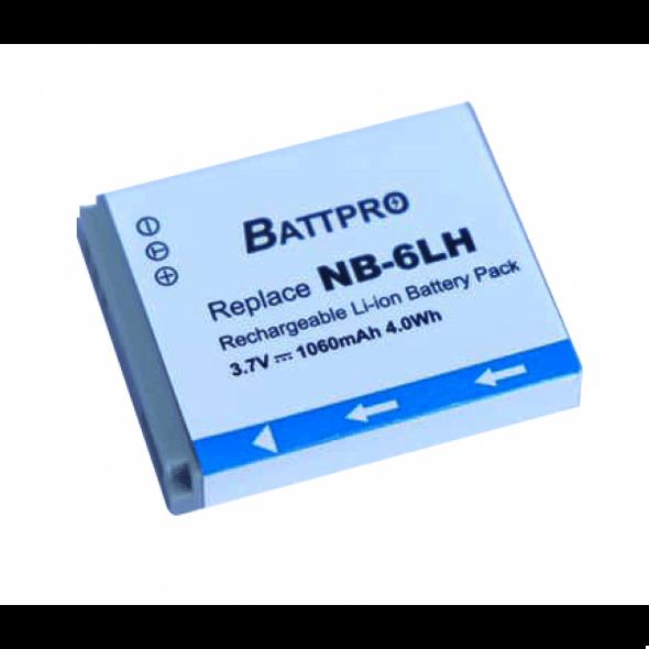 Battpro NB-6L Battery for Canon IXUS 210IS 310HS PowerShot SX280HS SX710HS
