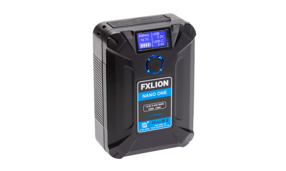 FXLion Nano One 50Wh V-mount 連USB TypeC QC3.0 PD V接口鋰電池