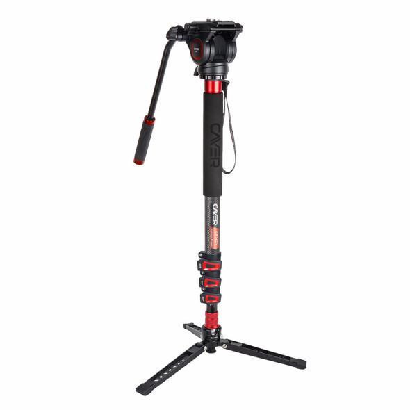 Cayer 卡宴 CF34DVH4 Video Monopod Set 碳纖維攝錄獨腳架套裝