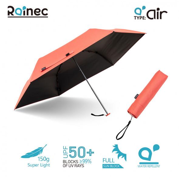 Rainec air 超輕不透光潑水摺傘 (珊瑚紅)
