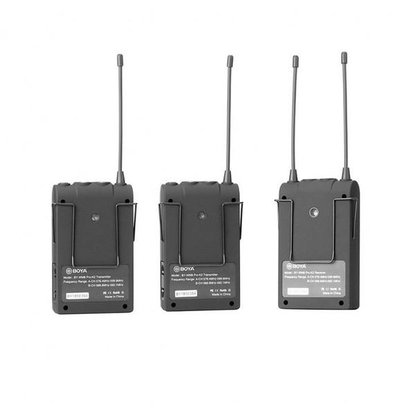 BOYA BY-WM8 Pro-K2 HK (TX8+TX8+RX8) 雙通道無線麥克風 (接收+2組發射)