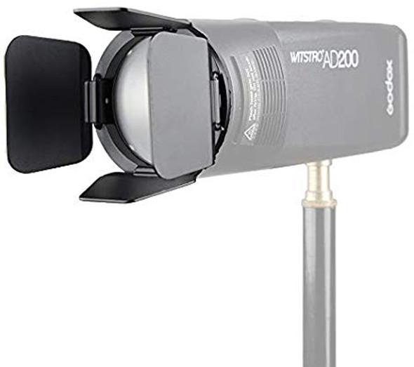 Godox 神牛 AK-R14  V1 AD200 圓形燈頭 四葉擋光板