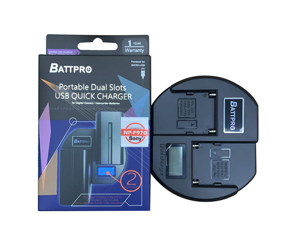 Battpro Dual NP-F USB Quick Charger 快速充電器