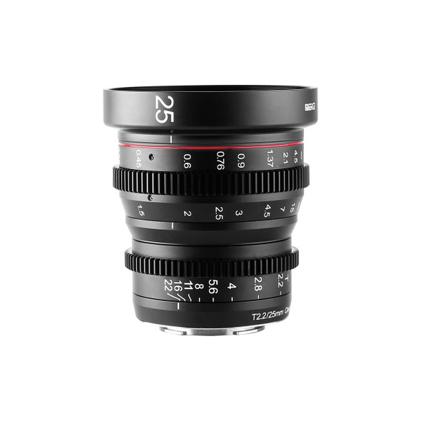Meike 美科 MK-25mm T2.2 Manual Focus Cinema Lens 電影鏡頭 For MFT-mount