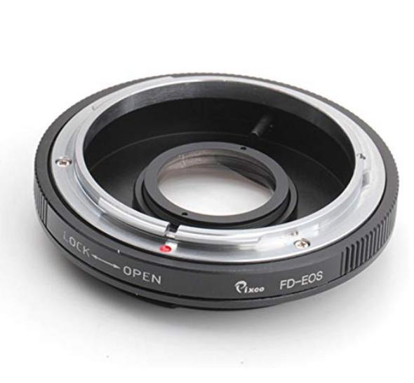 Pixco FD-EF  Canon FD to Canon EF Mount 手動轉接環 (可對無限遠)