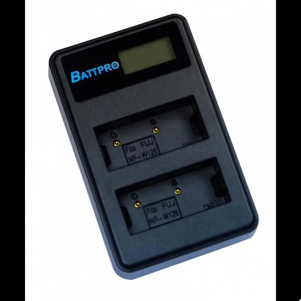 Battpro Dual Fujifilm NP-W126S USB 雙位充電座
