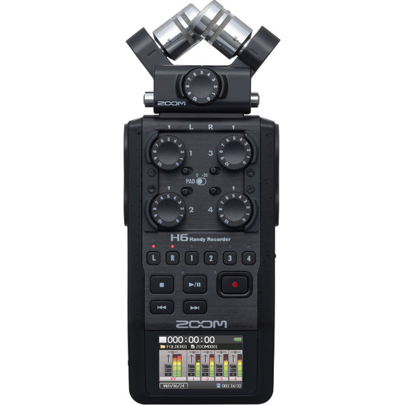 Zoom H6 Black 6-Track Portable Handy Recorder 手提數位錄音機