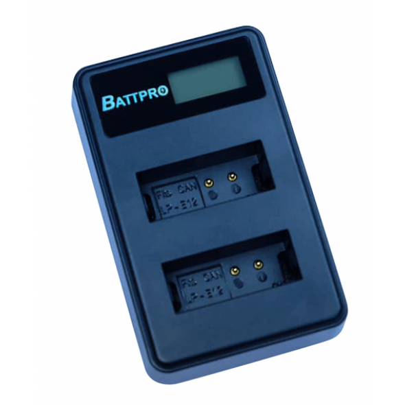 Battpro Canon LP-E12 USB Charger 雙位電池充電板