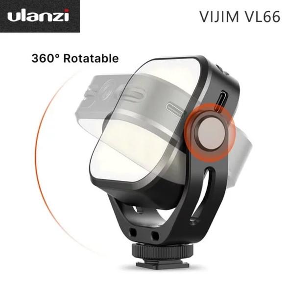 Ulanzi VIJIM VL66 360° LED旋轉迷你可調色溫持續燈