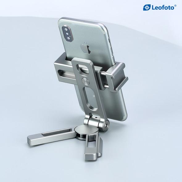 Leofoto PS-2 metal phone stand 多用途金屬手機支架 Silver 銀色