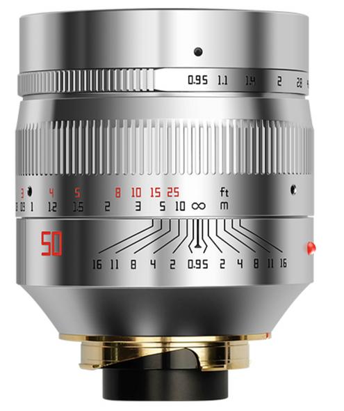銘匠 TTartisan 50mm f/0.95 LM Leica-M 鏡頭  銀色