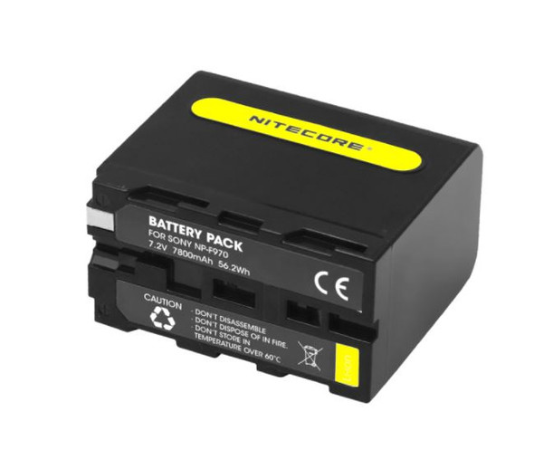 Nitecore  NP-F970 battery pack for video light and Sony camcorders 攝錄補光燈專用鋰電池