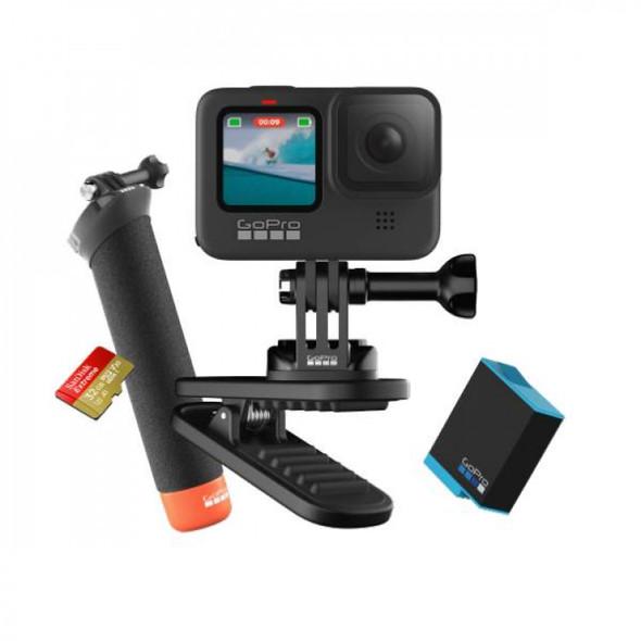 GoPro Hero 9 Black Action Cam Bundle 優惠套裝 (包含:磁性旋轉夾/漂浮式把手/備用電池/32GB SD卡/收納包)