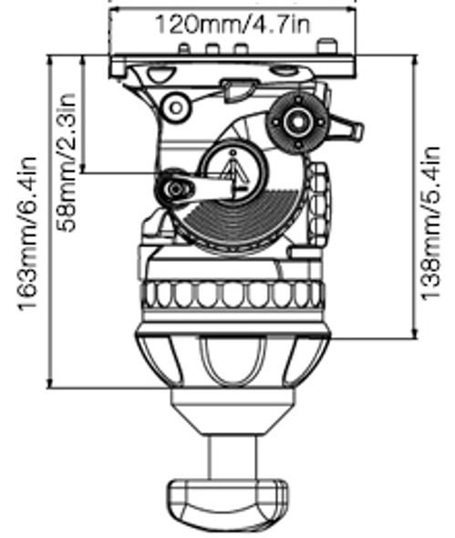 E-IMAGE GH10L 100mm Video Head 專業油壓攝錄雲台