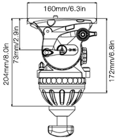 E-IMAGE GH15 100mm Video Head 專業油壓攝錄雲台