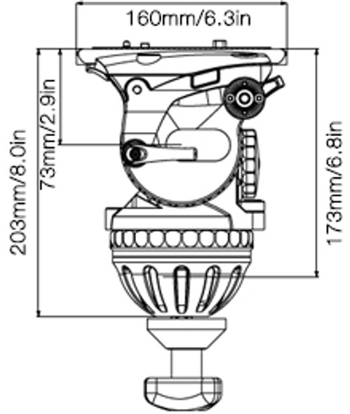 E-IMAGE GH25 100mm Video Head 專業油壓攝錄雲台
