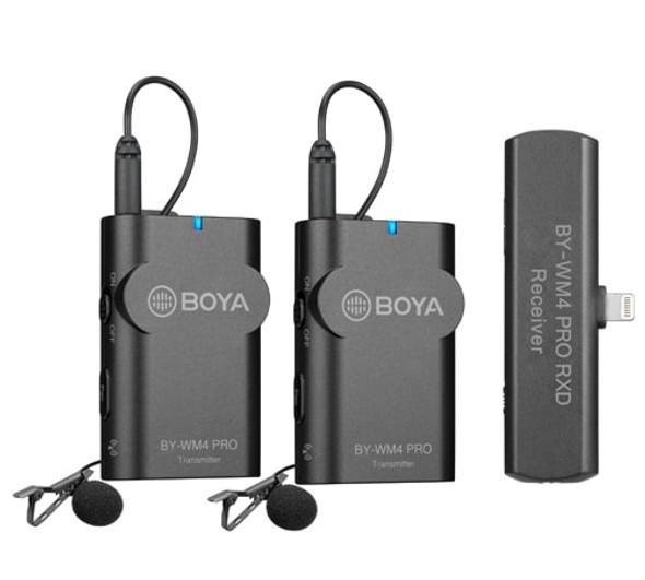 BOYA BY-WM4 Pro K4 Wireless Microphone 一開二無綫收音咪 For Apple Lightning