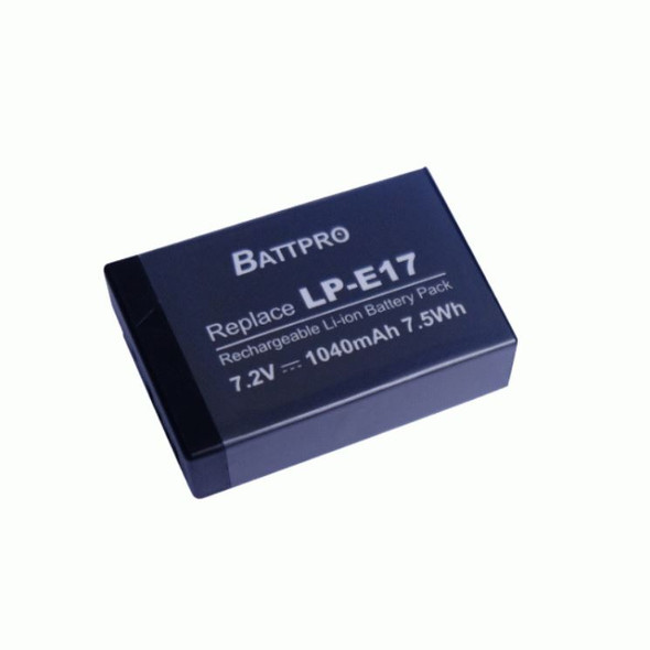 Battpro LP-E17 Battery for Canon EOS RP 77D 800D 200D M5 M6 (全解版可顯示電量)