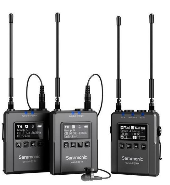 Saramonic UWMIC9S Kit 2 RX9+TX9+TX9 一對二無線單反領夾咪
