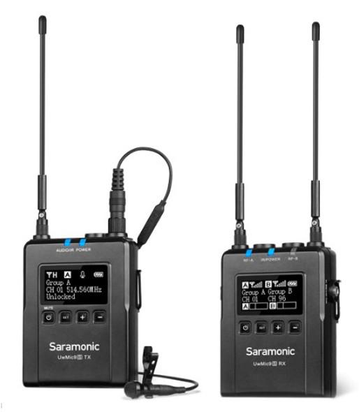 Saramonic UWMIC9S Kit 1 RX9+TX9 一對一無線單反領夾咪