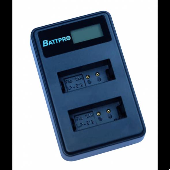 Battpro Panasonic DMW-BLC12 USB Charger 雙位電池充電板