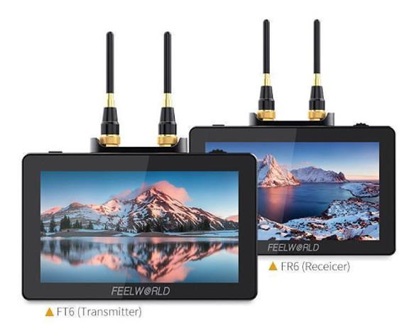 "FeelWorld FT6 FR6 5.5"" HDMI Wireless Monitor 無線圖傳導演監視器"