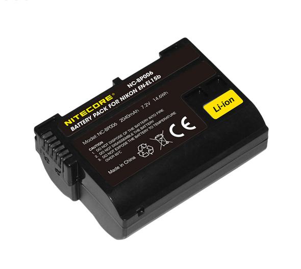 Nitecore EN-EL15b Battery Pack for Nikon 相機專用鋰電池