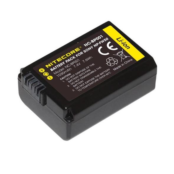 Nitecore NP-FW50 Battery Pack for Sony 相機專用鋰電池