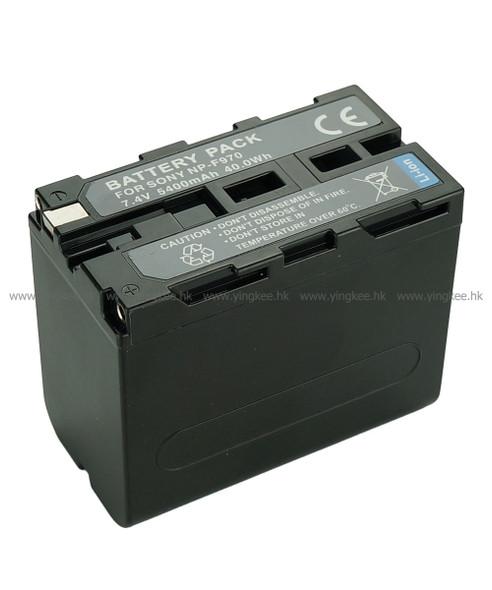 副廠Sony NP-F950 F960 F970 6600mAh LED攝錄燈專用鋰電池
