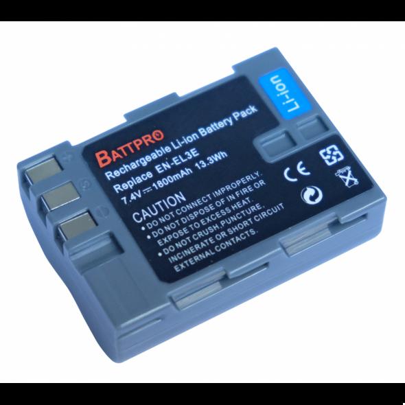 Battpro EN-EL3e Battery for Nikon 相機代用電池