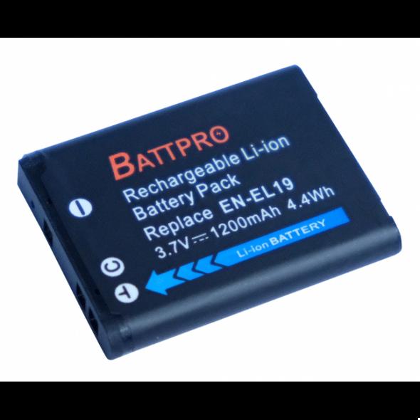 Battpro EN-EL19 Battery for Nikon 相機代用電池