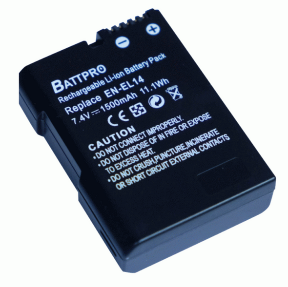 Battpro EN-EL14 Battery for Nikon 相機代用電池