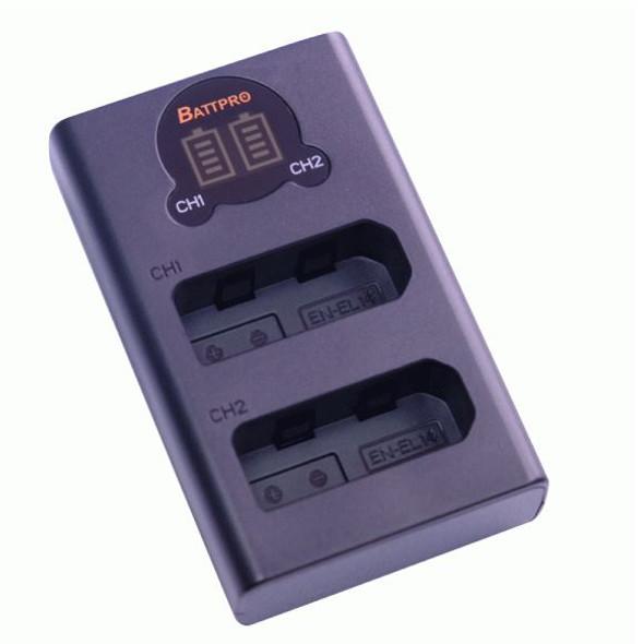 Battpro Nikon EN-EL14 USB Charger 雙位電池充電板