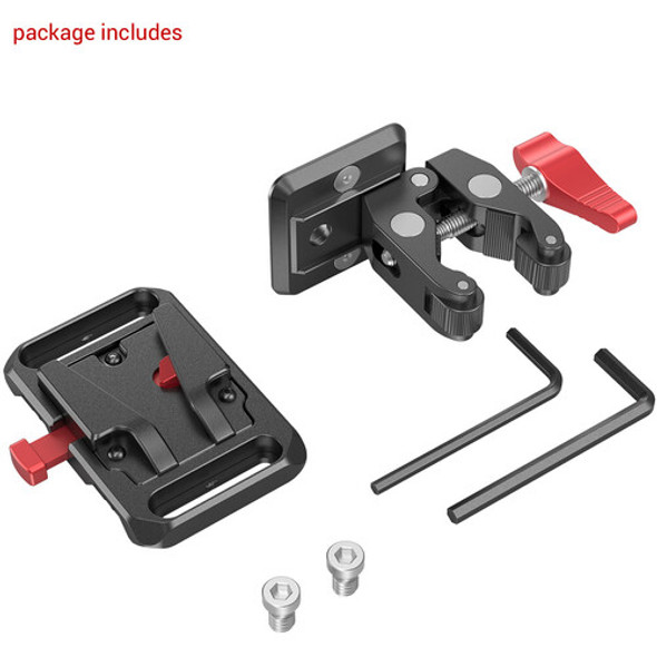 SmallRig Mini V Mount Battery Plate with Crab-Shaped Clamp 2989