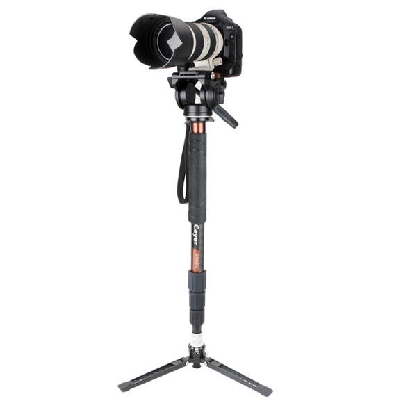 Cayer 卡宴 CT35DVH4 Video Monopod Set 碳纖維攝錄獨腳架套裝