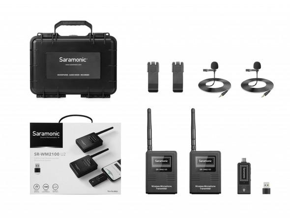 Saramonic SR-WM2100 U2 2.4GHz Dual Wireless Lavalier Micophone