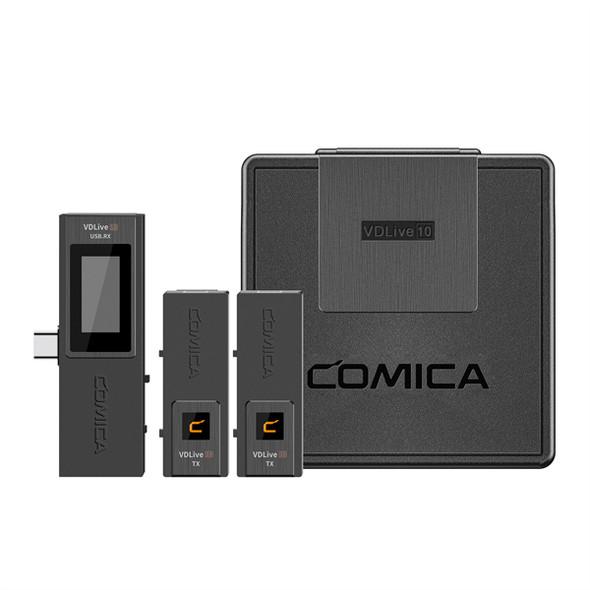 Comica VDLive10 USB Versatile 2.4G Wireless USB Microphone Black 無線咪