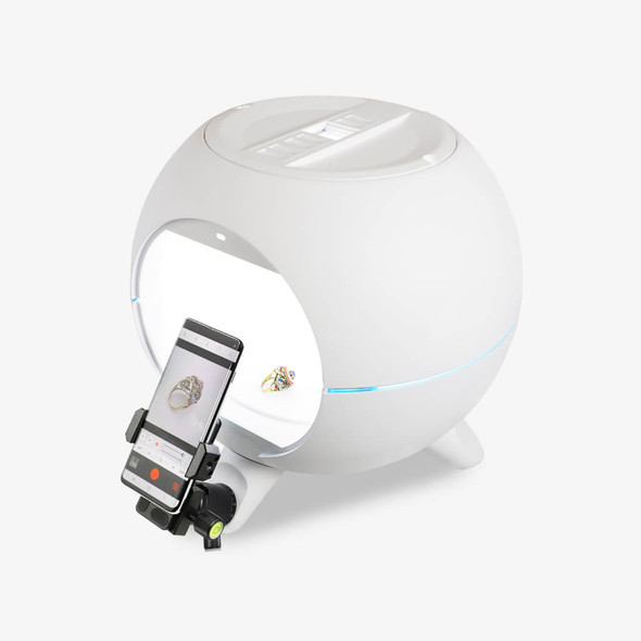 OrangeMonkie Foldio360 Smart Dome with Phone Mount Kit