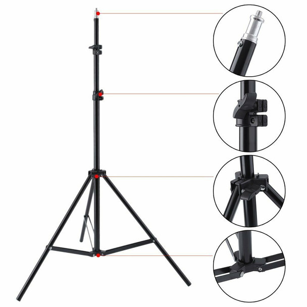 Qihe QH-J190 190cm 3 Sections Light Stand 三節可伸縮燈架