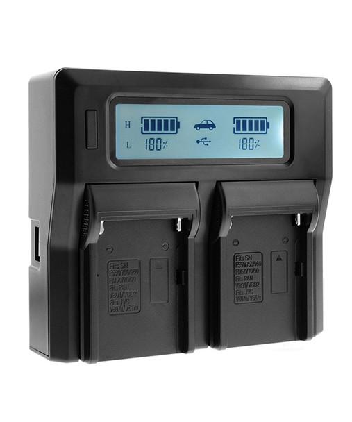 副廠 Sony NP-F/ F550/ F750/ F950 L電雙位充電器