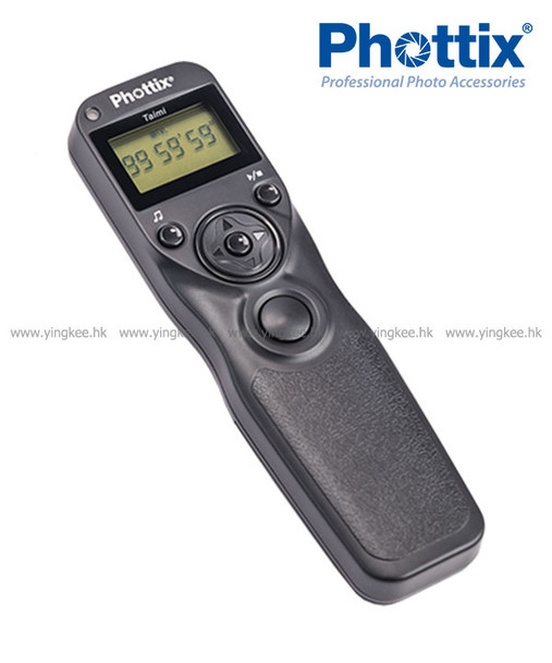 Phottix Taimi all-in-one Digital Timer Remote 可換線定時遙控器快門線 (可對應Canon Nikon和Sony)