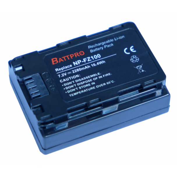 Battpro NP-FZ100 Battery for Sony A7RIII A7III A9R A9